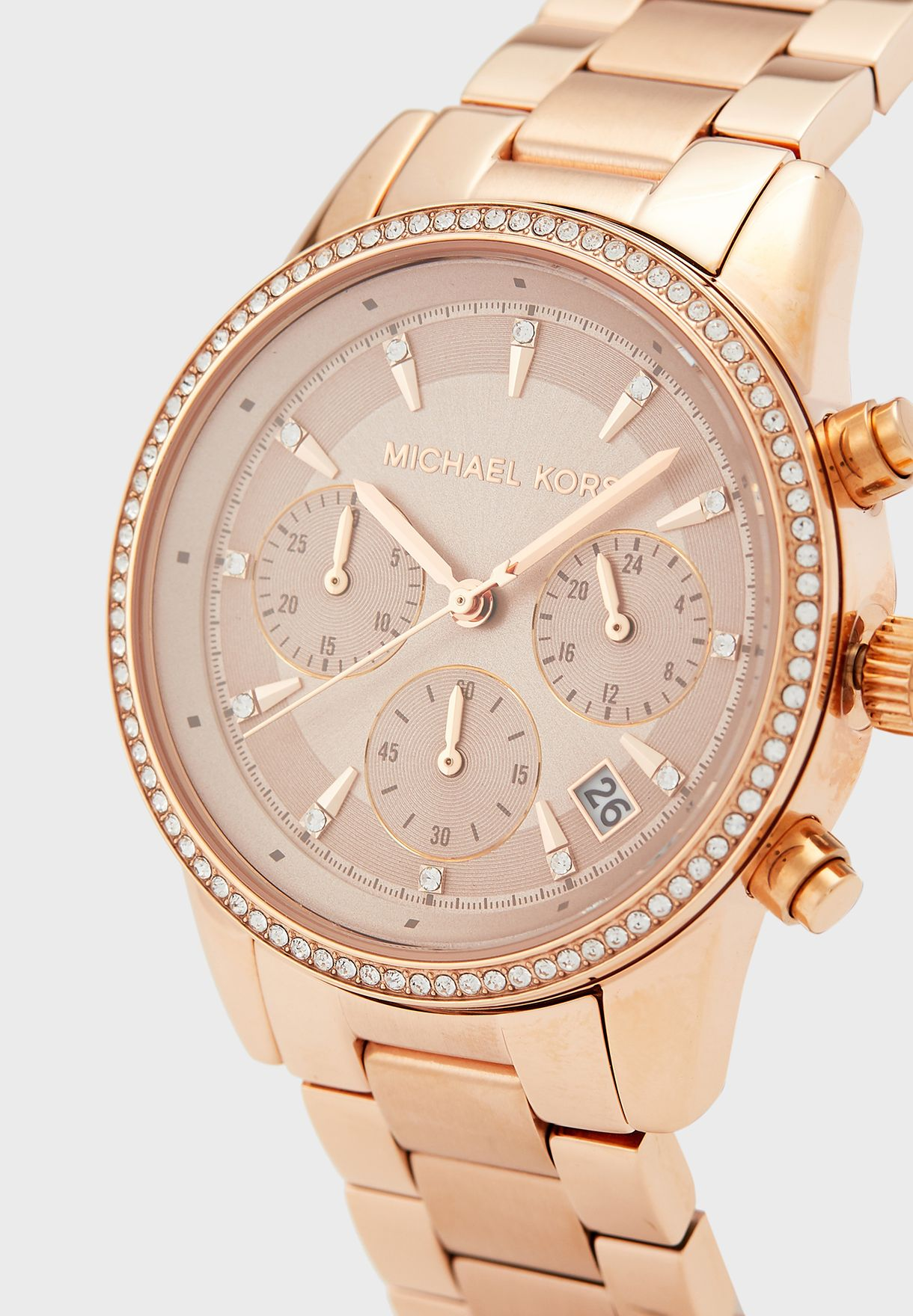 Ritz Rosegold-Tone Analog Watch