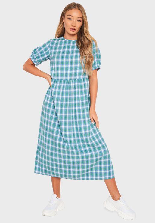فستان مربعات