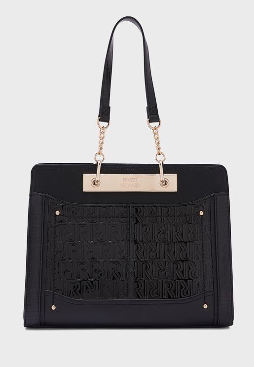 Embossed Chain Tote