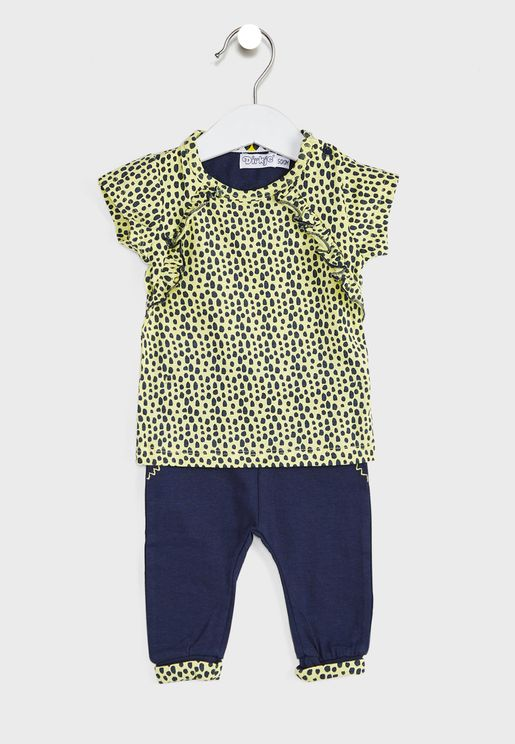 Infant Printed Top + Trousers Set