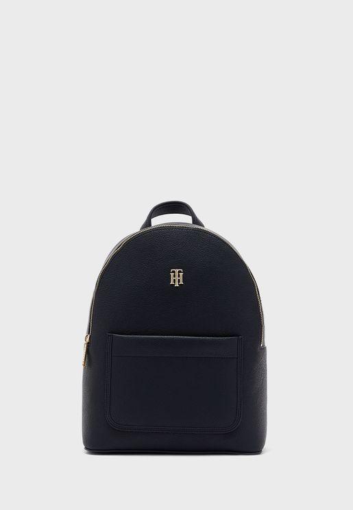 Binding Front Pocket Backpack