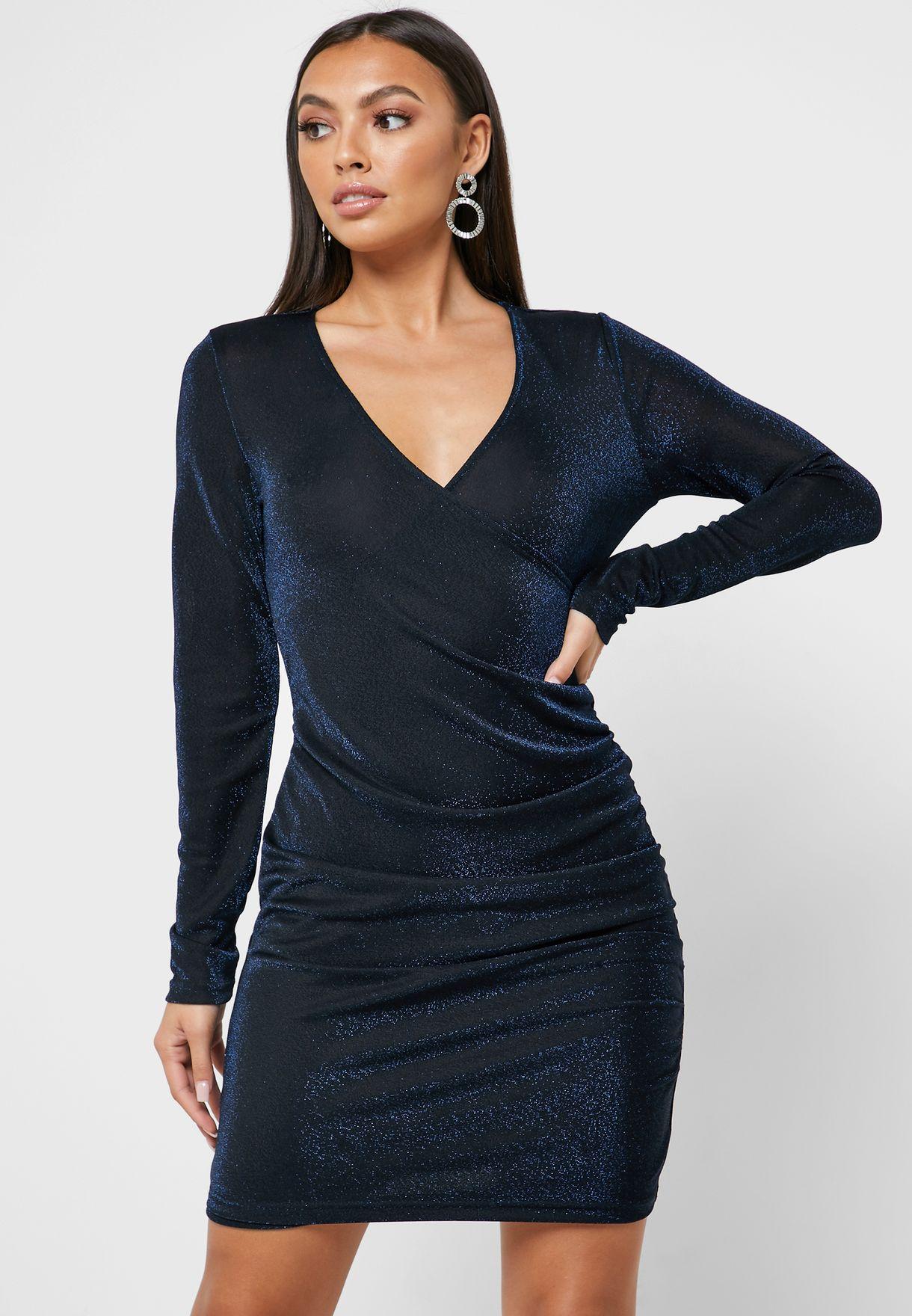 Shimmer Ruched Dress