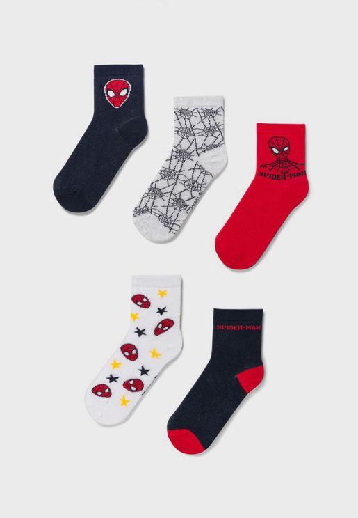 Kids 5 Pack Assorted Socks