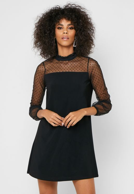Shirred Detail Dress
