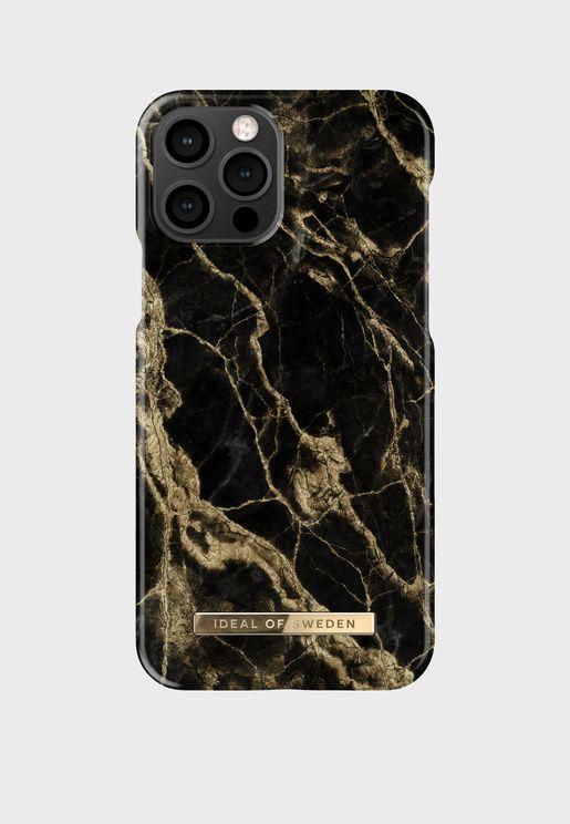 Golden Smoke Marble iPhone 12/12 Mini Case