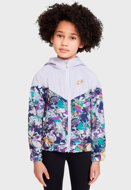 Kids AOP Energy Windrunner Jacket