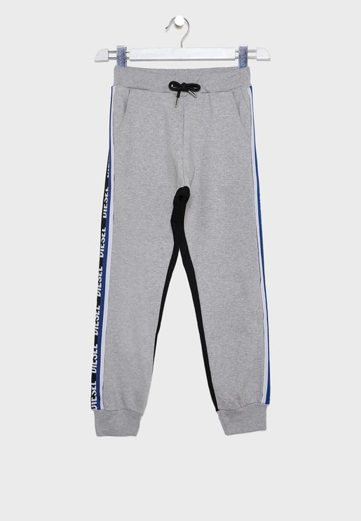 Kids Dual Color Cuffed Sweatpants