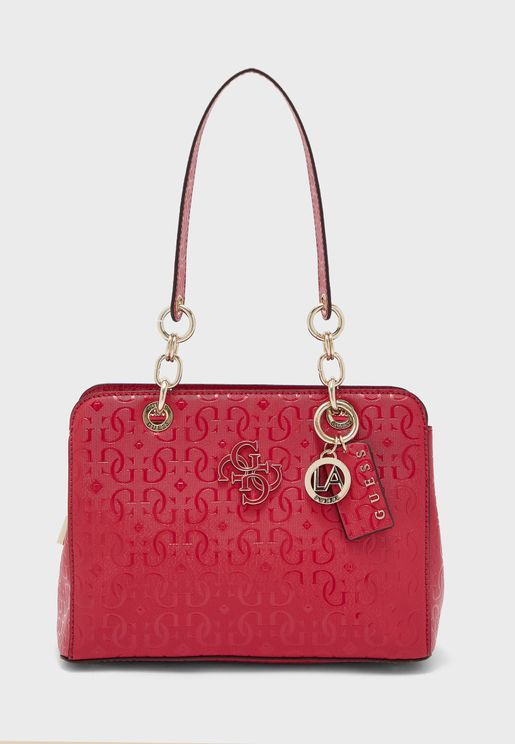Chic Shine Textured Satchel