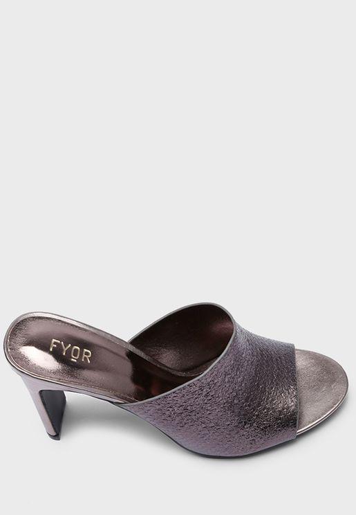 High Block Heel Sandal