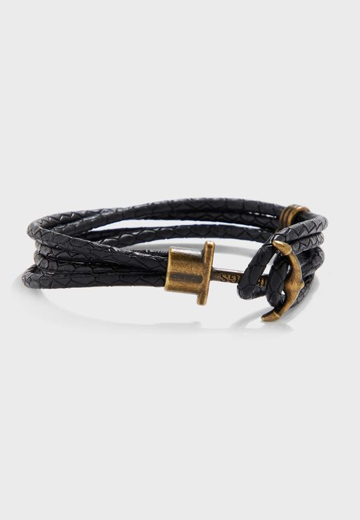 Braided Anchor Lock Bracelet