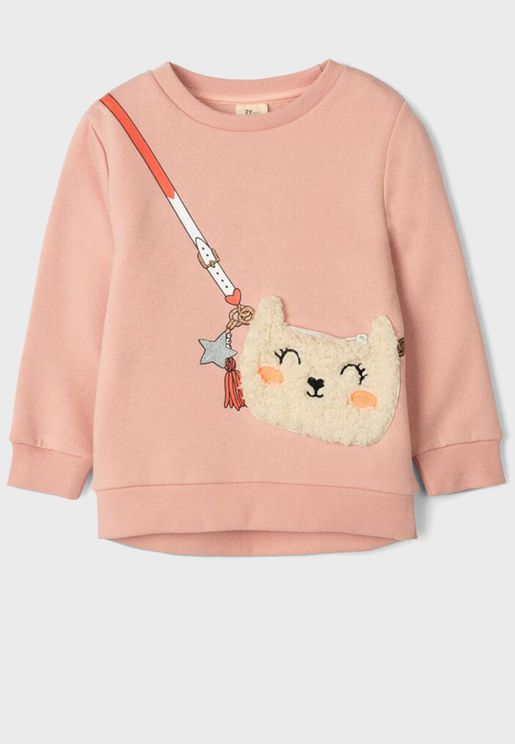 Kids Fcat Face Sweatshirt