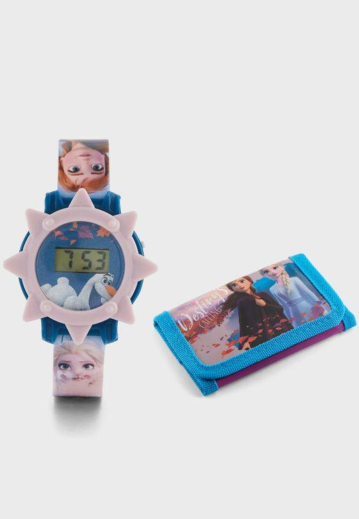 Frozen Digital Watch And Wallet
