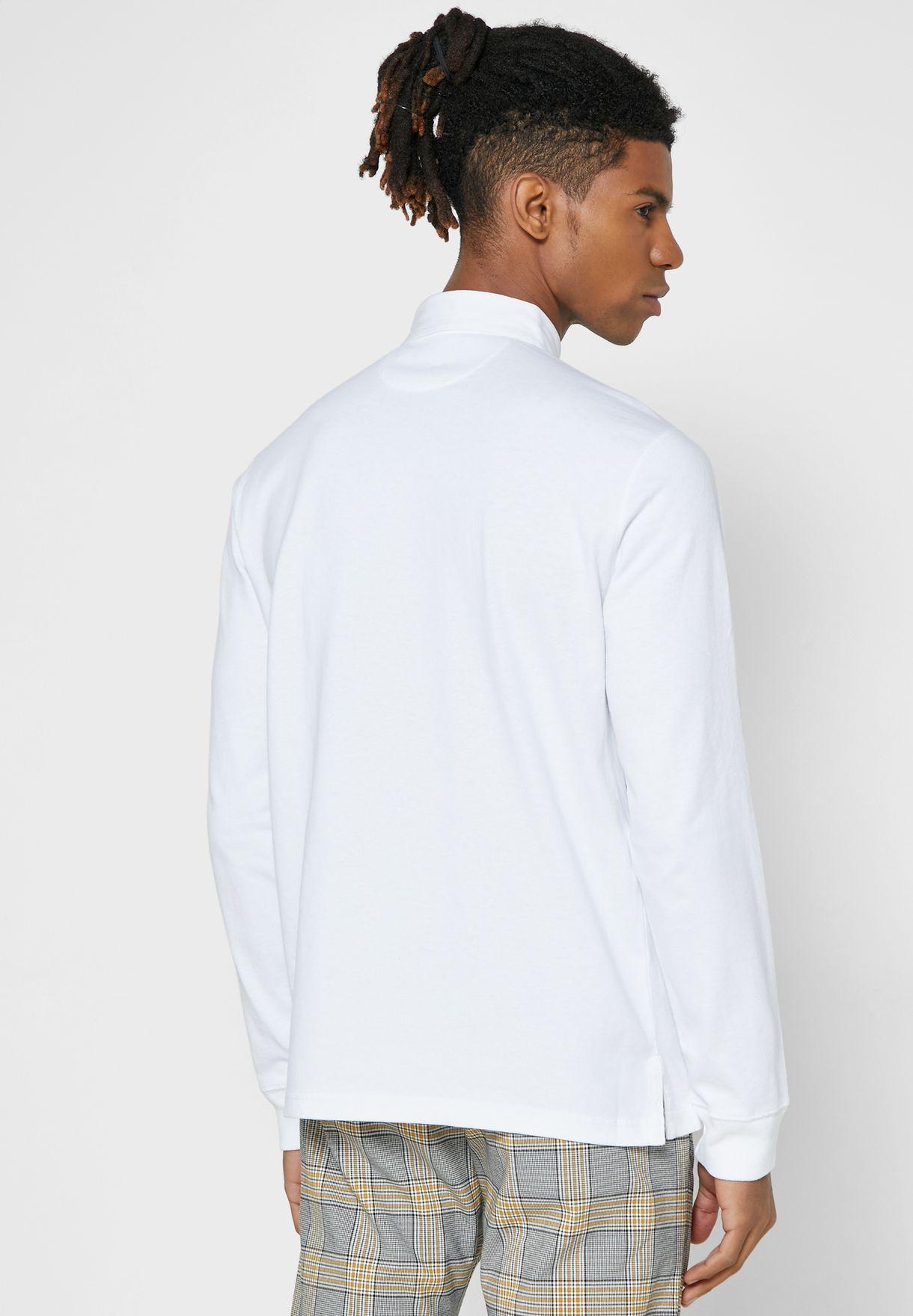 قميص قطني بطبعة امامية