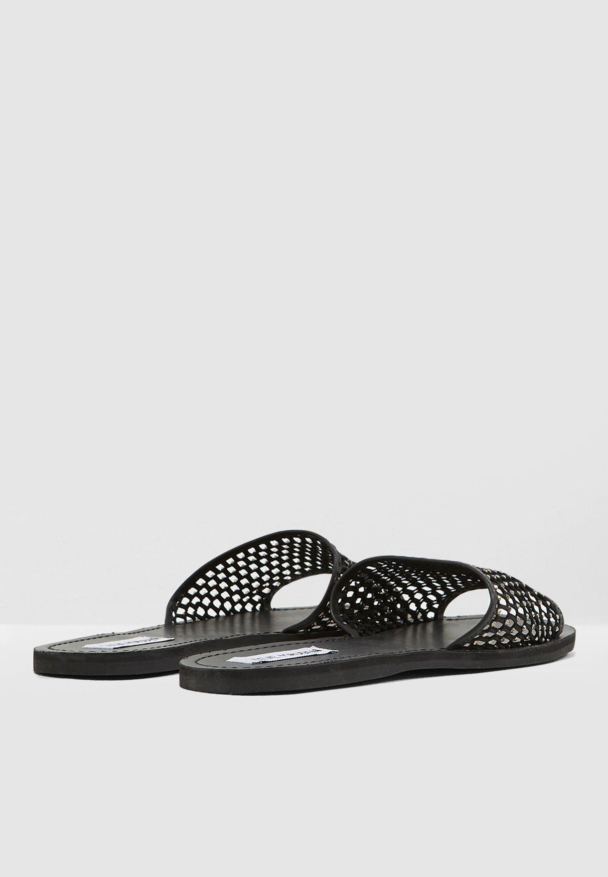 Alexa Flat Sandal - Black