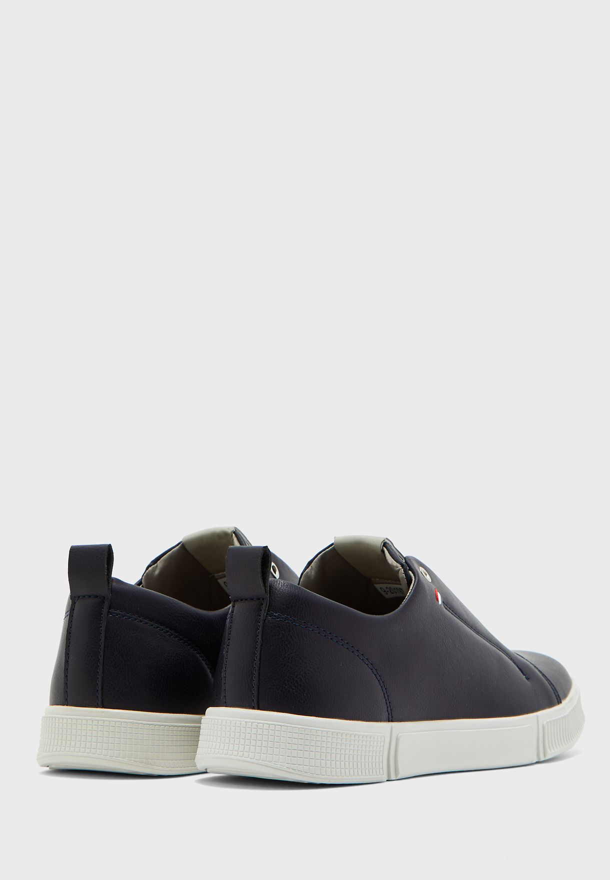 Faux Leather Casual Slip Ons