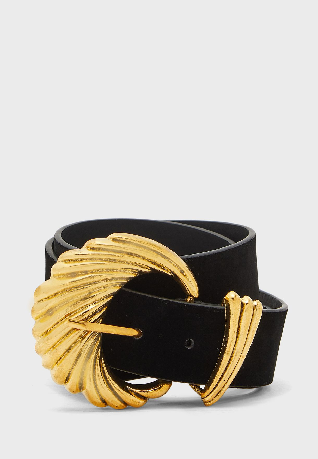 Shell Textured Buckle Belt