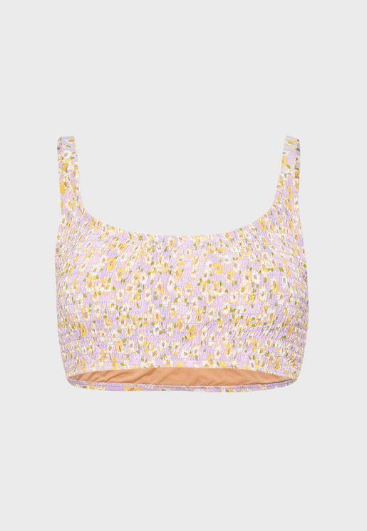 Shirred Bralette Bikini Top