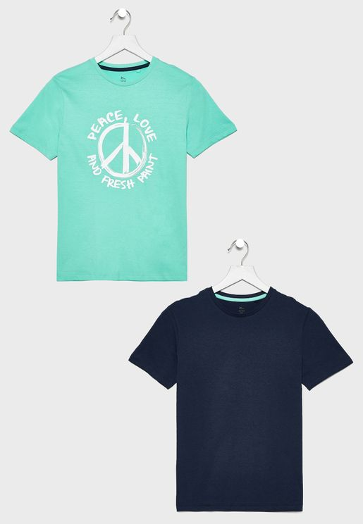 Kids 2 Pack Graphic T-Shirt