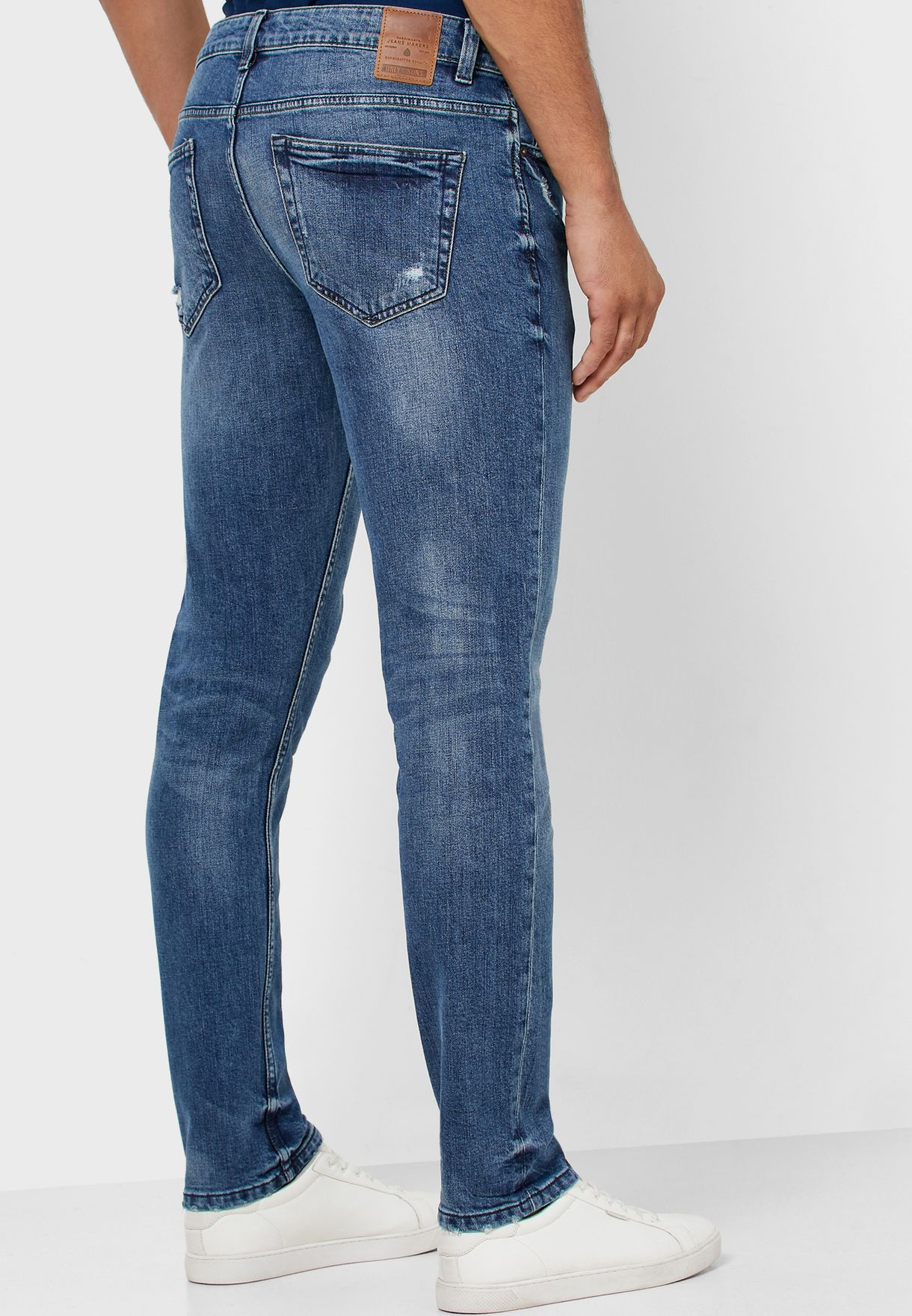 Loom Distressed Slim Fit Jeans