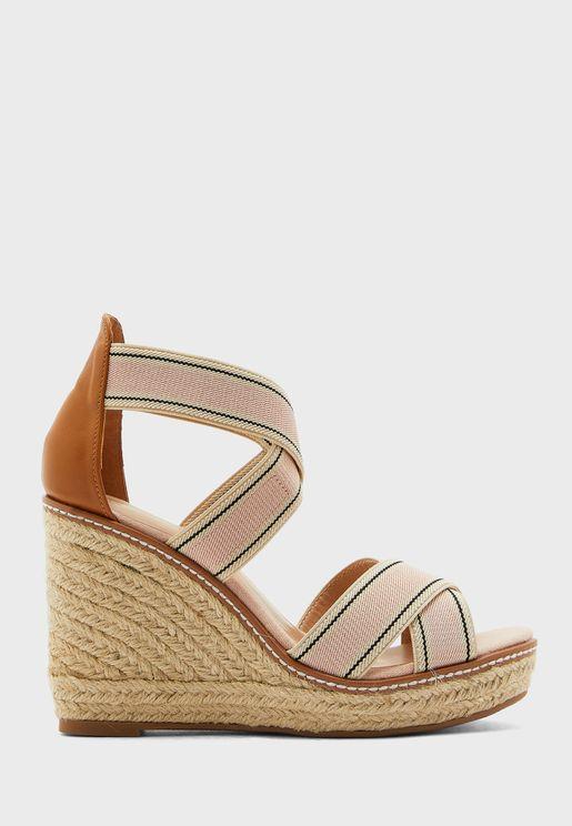 Jute High Heel Wedge Sandal