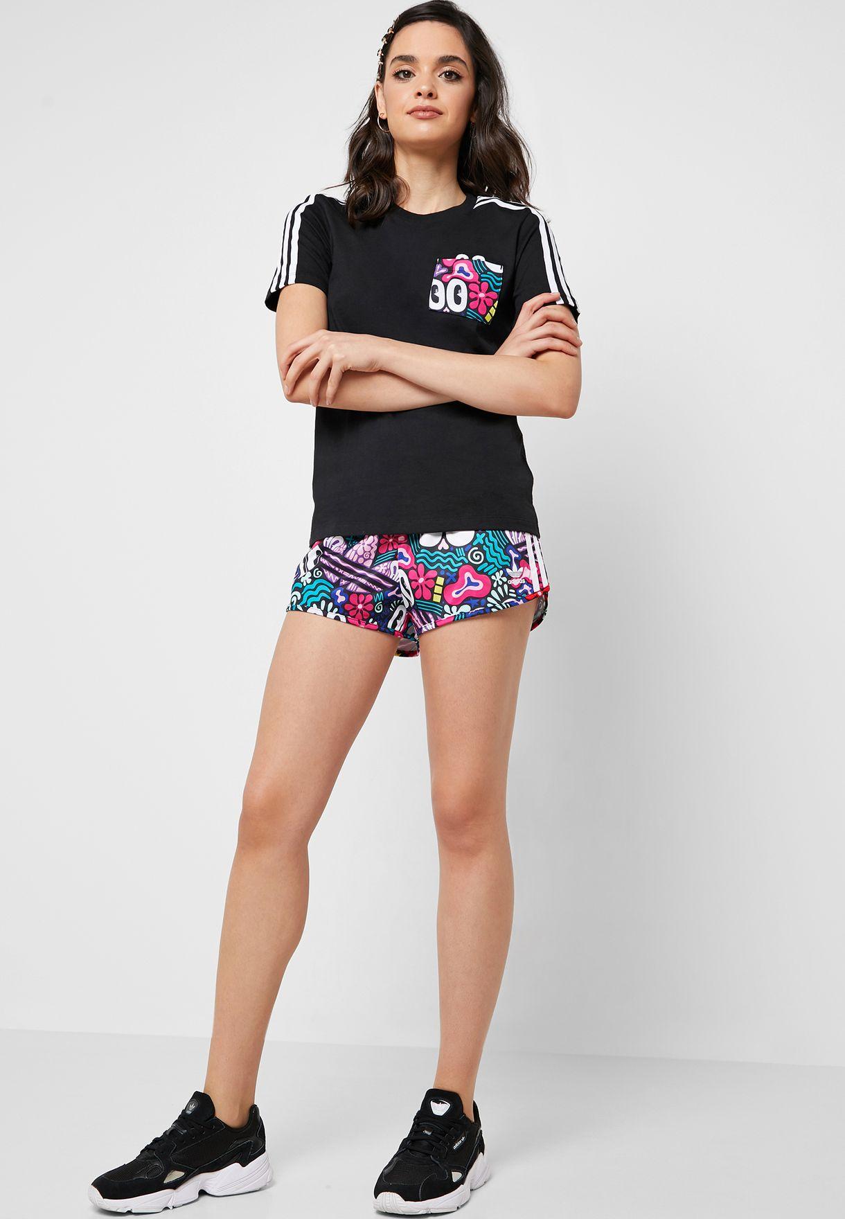 8ec028ab9ef7 Shop adidas Originals black Trefoil T-Shirt DV2657 for Women in Oman ...