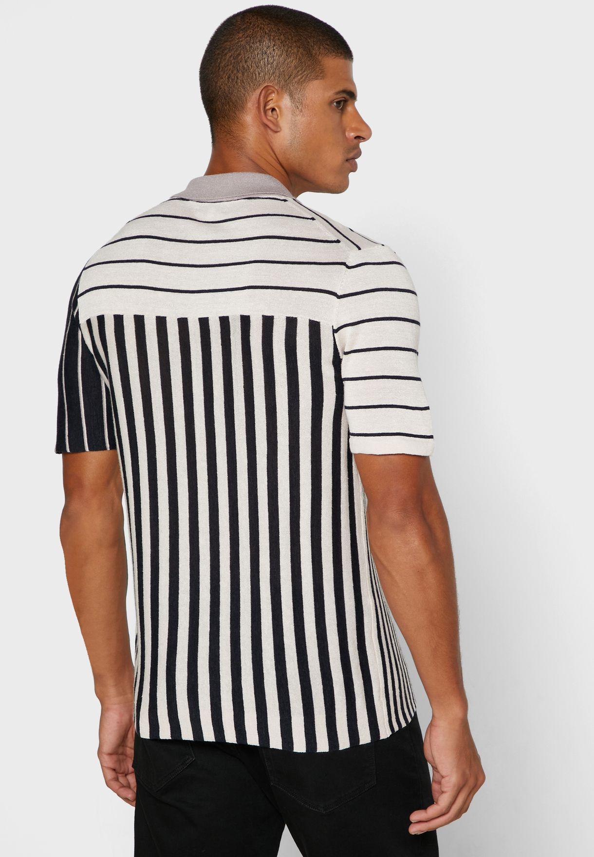 قميص سليم فيت مخطط