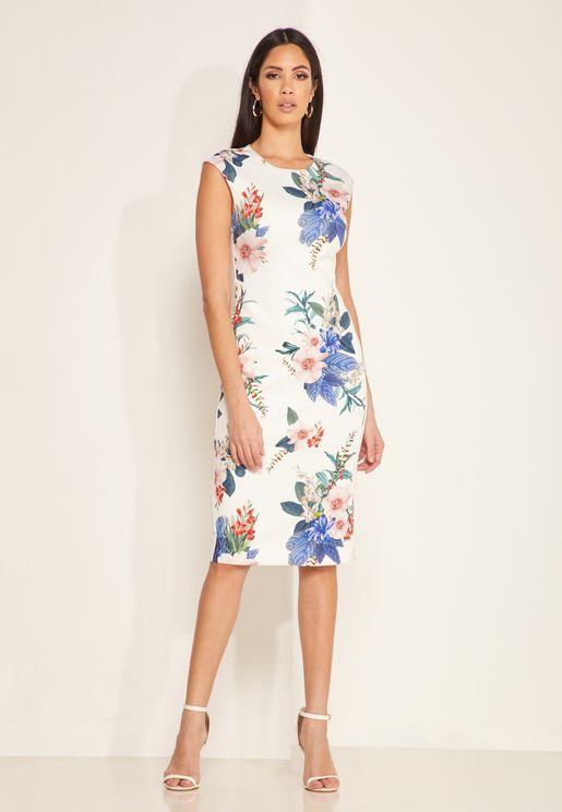 Sharley Floral Print Bodycon Dress