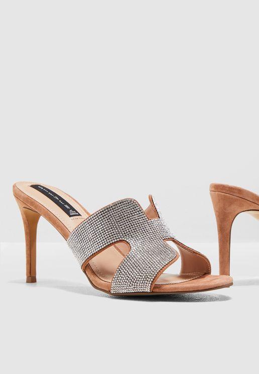 Nylah Glitter Sandal - Blush Mult