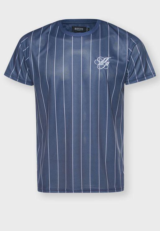 Pin Stripe Crew Neck T-Shirt
