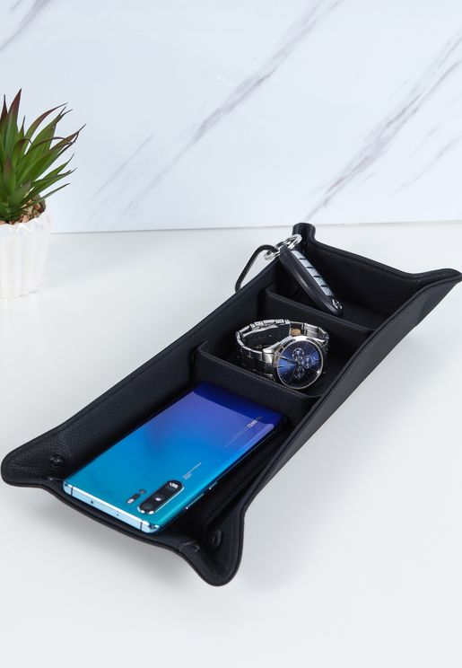Black Pebble Catchall Storage Tray