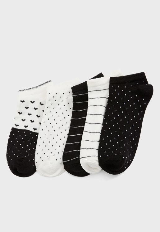 5 Pack Low Cut Socks