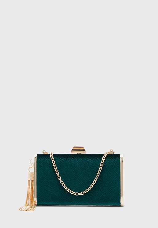 Velvet Box Clutch Bag