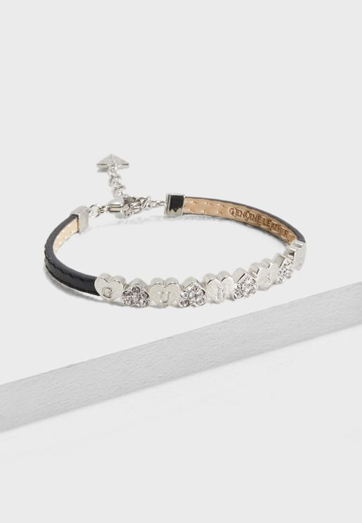 Pave Plain Heart Bracelet