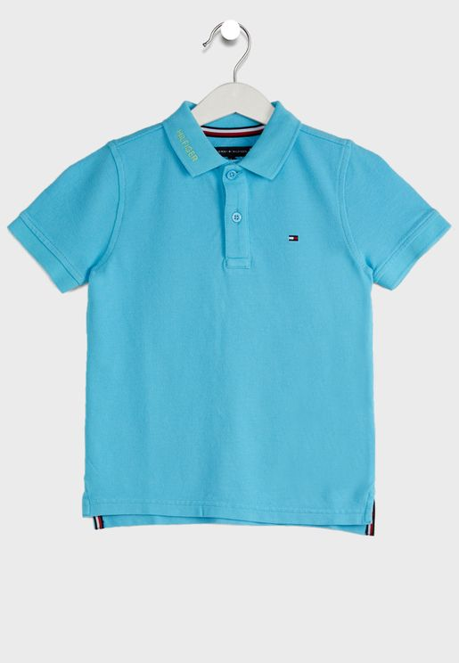 Kids Dyed Logo Polo Shirt