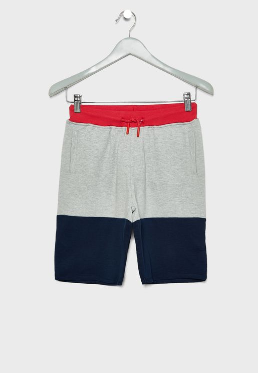 Kids Color Block Sweatshorts