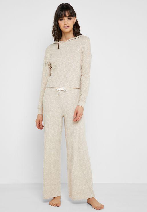 Tie Waist Ribbed Pyjama 74abb3d17