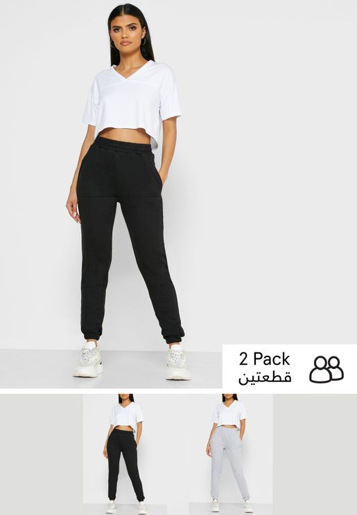 2 Pack Tie Waist Joggers
