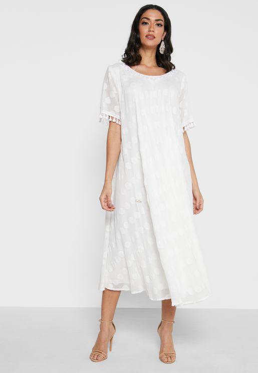 Bell Sleeve Jalabiya Dress