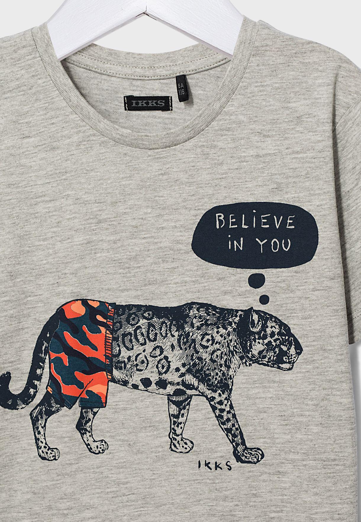 Kids Tiger Printed T-Shirt