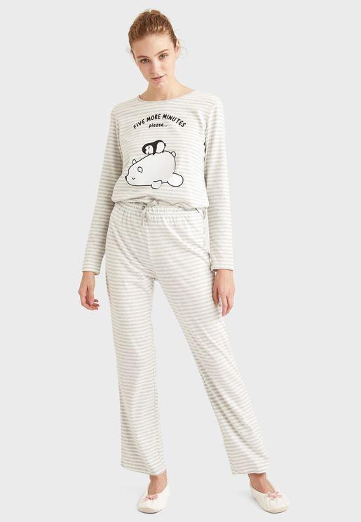 Printed Top & Pyjama Set