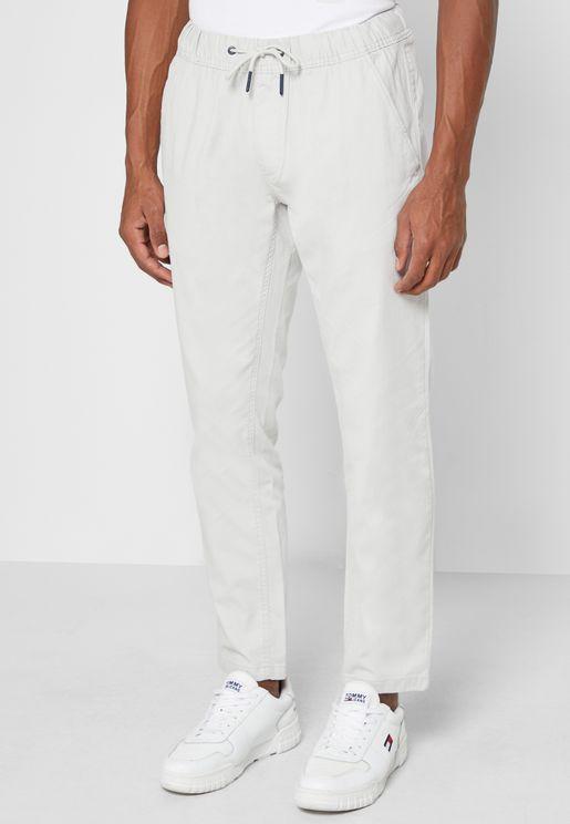 Drawstring Slim Fit Pants