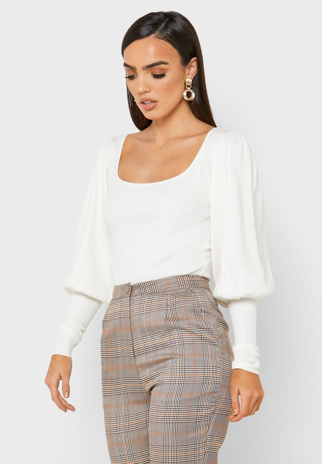 Square Neck Puff Sleeve Body