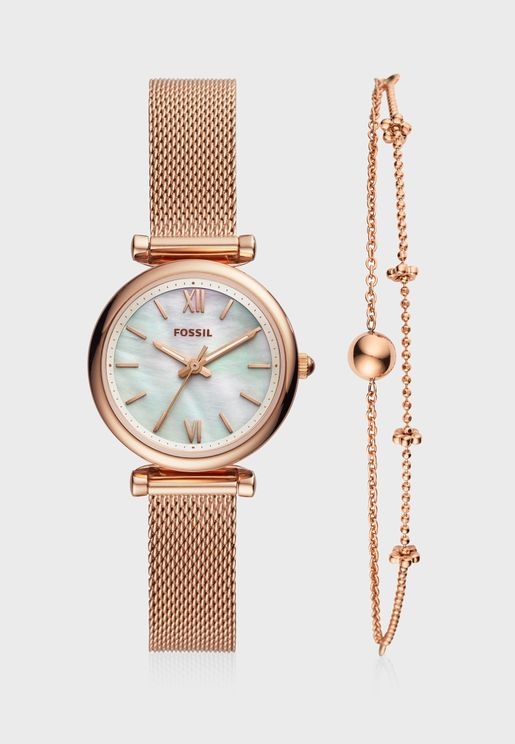 ES4443SET Carlie Analog Watch+Bracelet Set