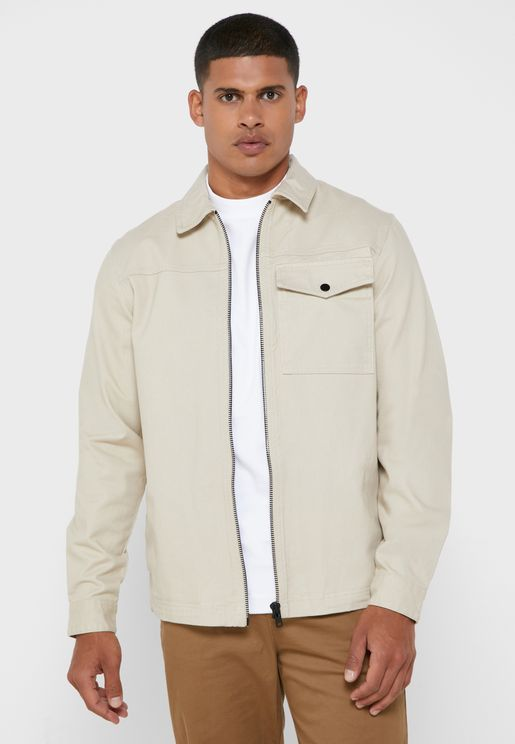 Pocket Detail Relaxed Jacket