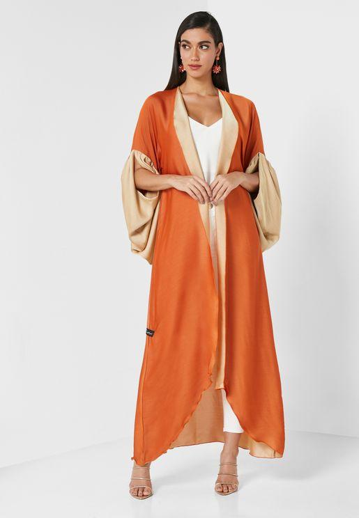 Orange Aura Abaya