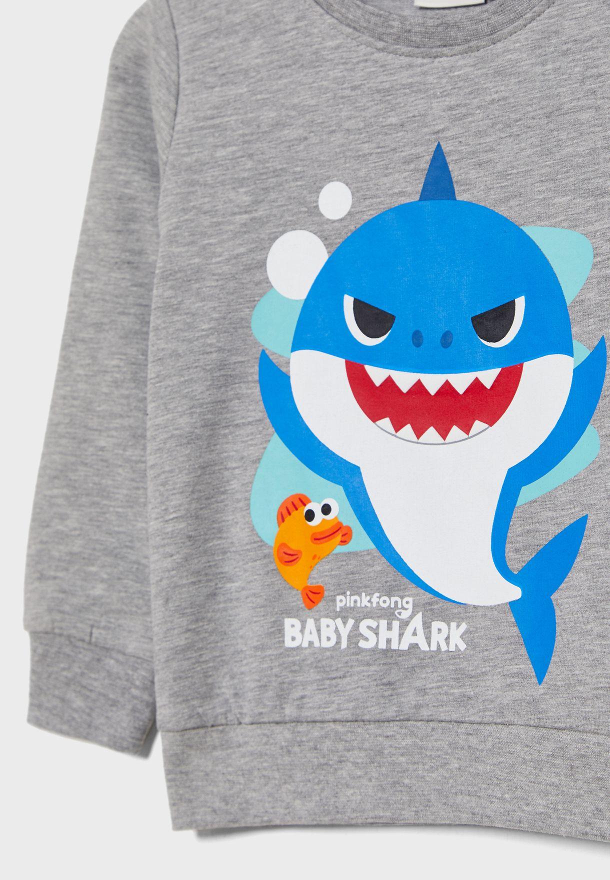 Buy Name It Grey Kids Baby Shark Sweatshirt For Kids In Mena Worldwide 13180623