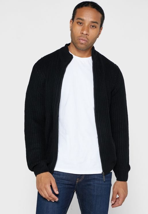 Funnel Neck Cardigan