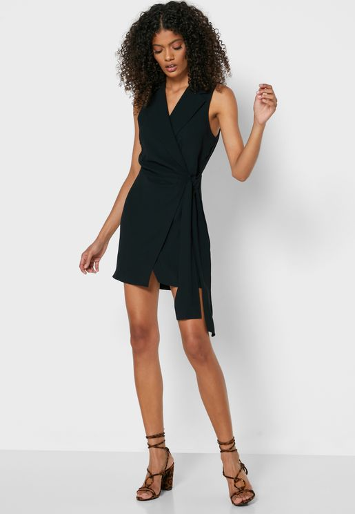 Wrap Blazer Dress