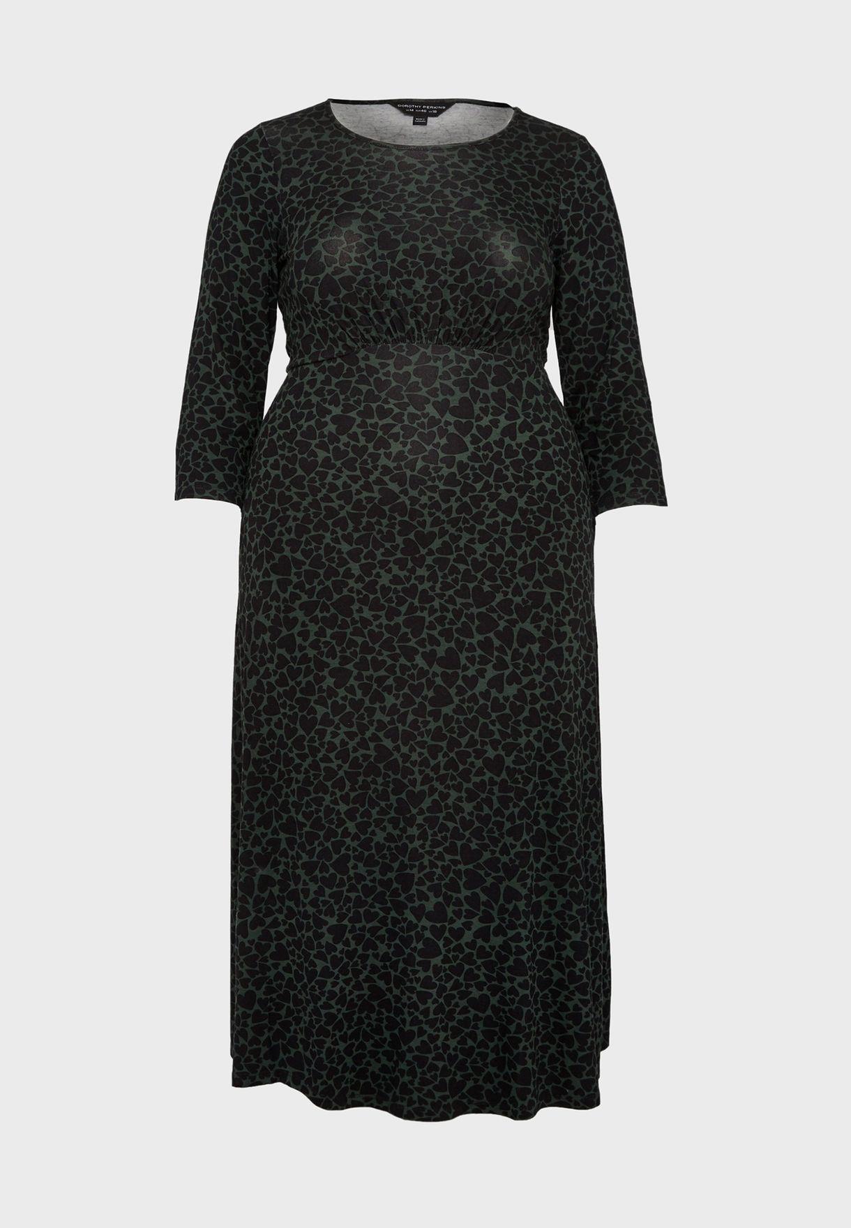 فستان بخصر مزموم