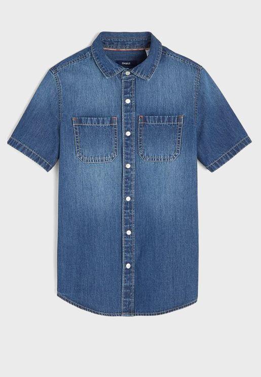 قميص جينز بازرار امامية